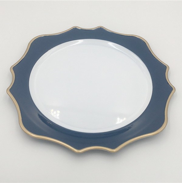 Melamine Round Plate for Wedding Decoration, Solid Color Melamine Plate