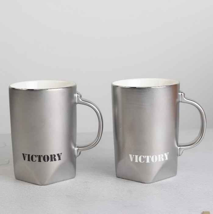 Various Colors Available Sublimation Ceramic Mug with Spoon And Bamboo Lid