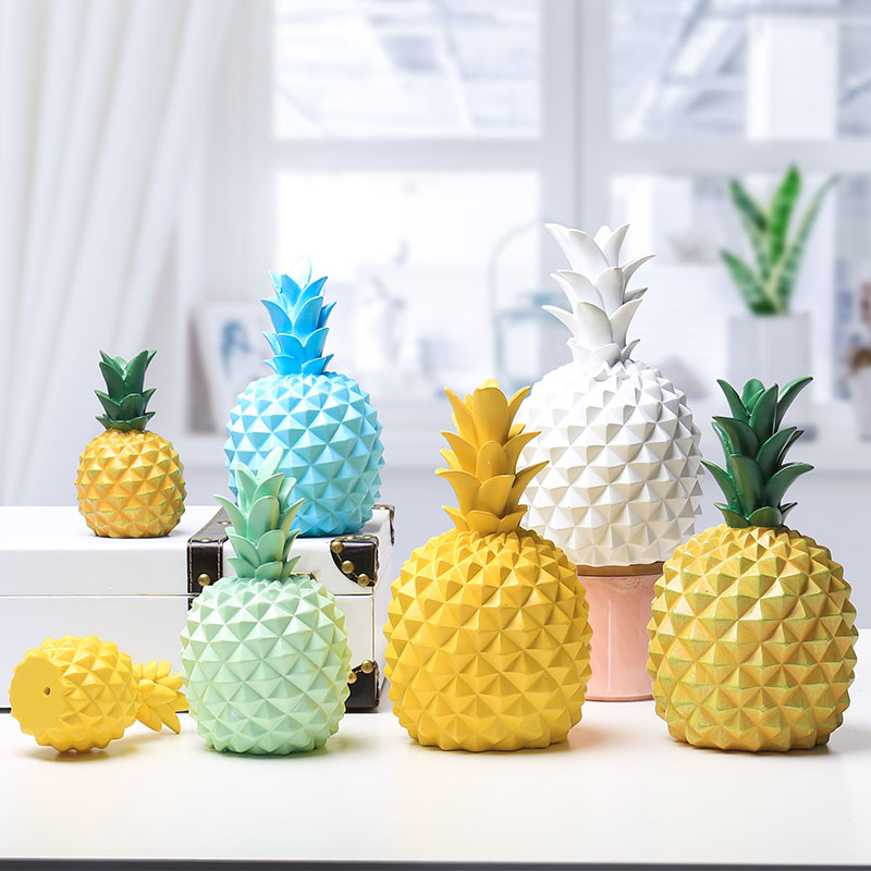 Figurine Personalized Pineapple Shape Piggy Bank Money Box
