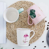 2019 New Fashion Design Tropical Leaves And Flamingo Printing Ceramic Water Mug