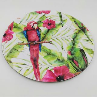 Side Flower Printed Round Melamine Catering Restaurant Serving Dishes