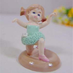 Pink Flower Fairy Bell Girl Ceramic Fairy Figurine