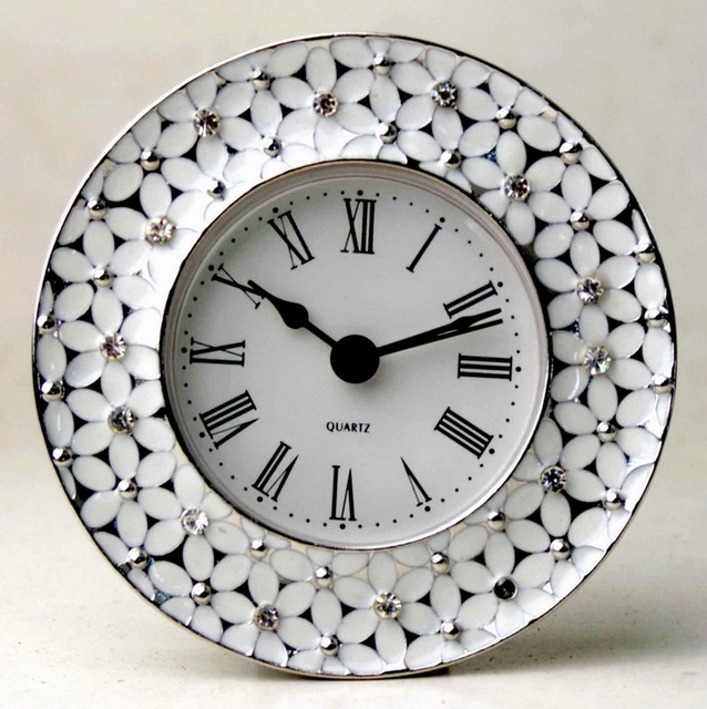 Souvenir Beautiful Pewter Home Decoration Desk Clock