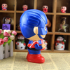 Polyresin custom coin superman piggy bank for home decoration