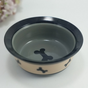Nice Colorful Fancy Ceramic Cat Designer Pet Bowl with Silicone Base