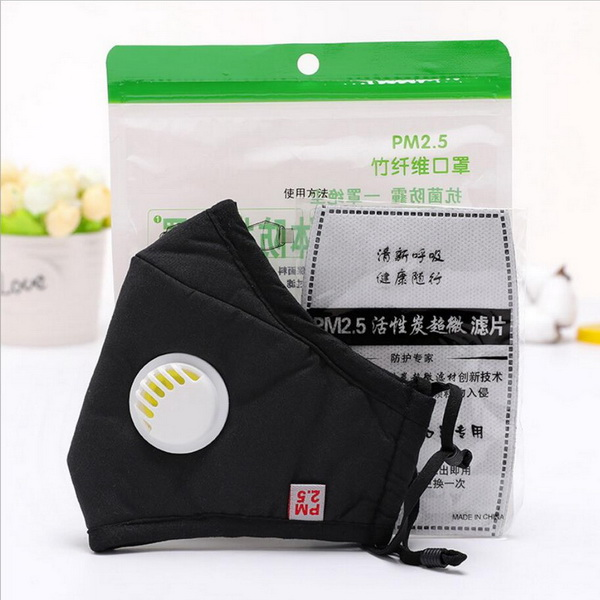 3D Fold Dust Kf94 Mask Face Mask with Valve Non Woven Active Carbon Anti Pollution