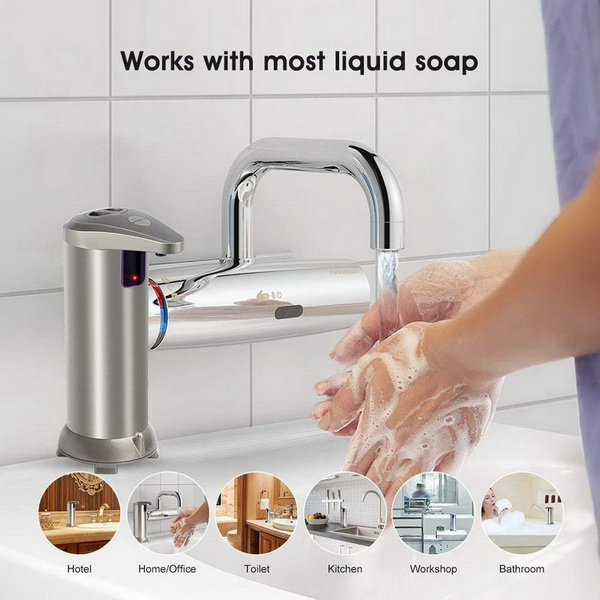Sanitary Hotel Rooms Manual Triple Wall Mount Liquid Soap Dispenser