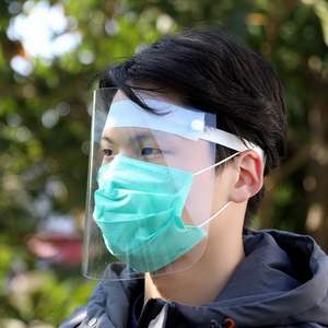 Clear Plastic Protection Anti-fog Adjustable Dental Full Face Shield