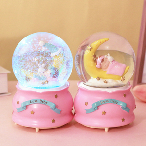White Swan Wedding Gift Snow Globe Customs Resin Polyresin Birthday Gift Snow Globe