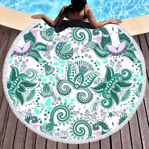 100% Polyester Custom Digital Printing Round Beach Towel