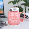 Hot-selling New Style Cartoon Mirror Face Lid Panda Office Gift Ceramic Mug with Color Cover