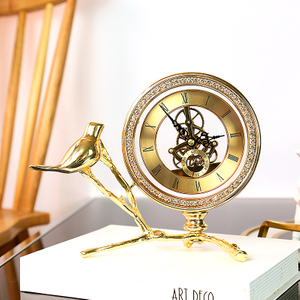 Pewter Antique Table Clock
