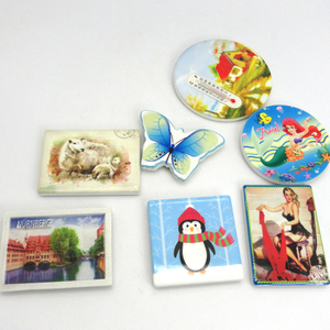 custom chinese souvenir ceramic fridge magnet