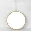 Round Gold Metal Glass Mirror Frame