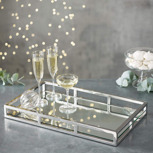 Rectangle Metal Mirror Tray