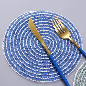 Multi-function Cotton Thread Weaving Padded Table Insulation Pad Round Placemat Table Mat