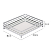 Delicate And Freely Spliced Transparent Grey Rectangular Tray with Metal