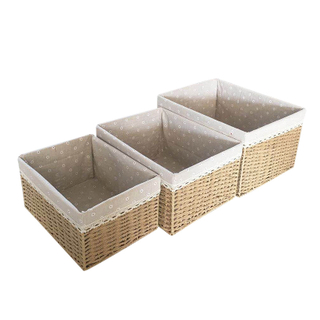 High Quality Retro Style Weaving Cotton Rope Basket Large