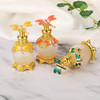 Arabic Style Zinc Alloy Material Arabic Perfume Bottle with Glass Stick