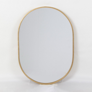 Custom Cut Size Shape Metal Framed Round Mirror for Hotel Bedroom