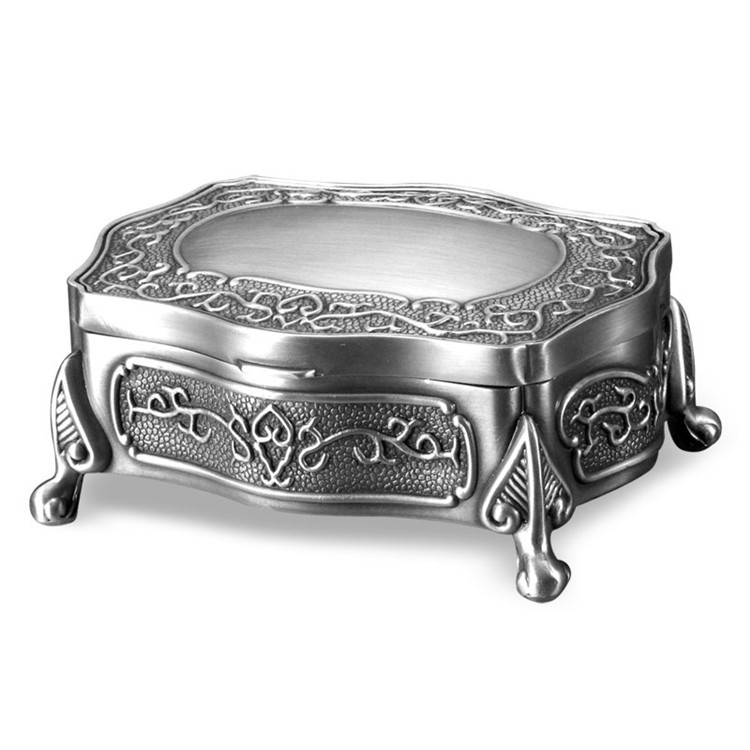 Zinc Alloy Custom Logo Printed Jewelry Box