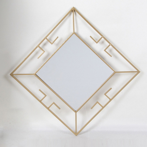 Metal Material Design Decorative Gold Mirror Wall