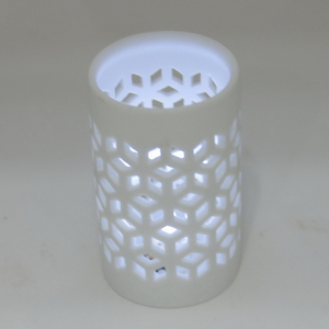 Ceramic White Electric Plug In Aroma Candle Night Light Lamp