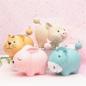 Hot Sales Polyresin Pig Shaped Piggy Bank