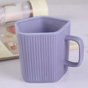 Colorful Design Purple Color Coffee Cup Ceramic Mug Glazed