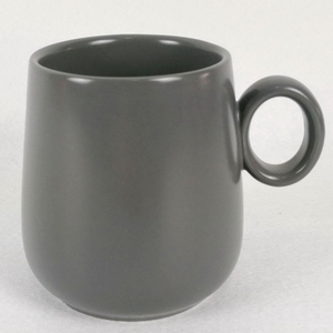 High quality CE Custom logo printed Solid Glaze Color tall stoneware ceramic mug