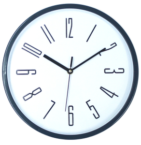 White 3D Wall Clock Easy Read Office Silent Wall Clock