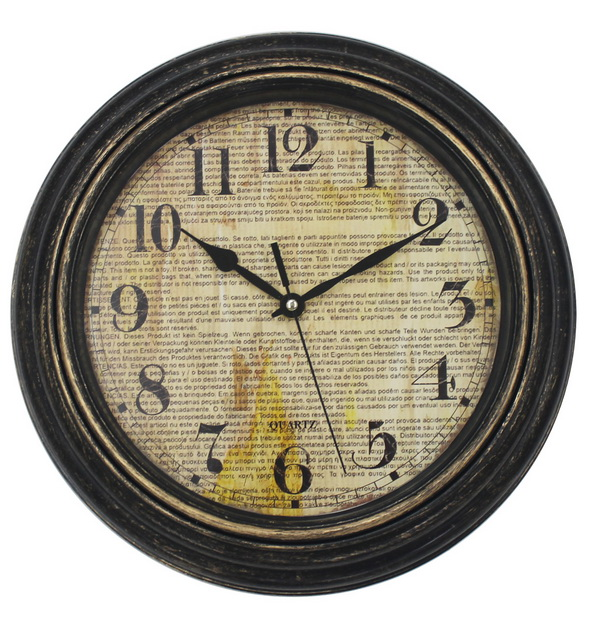 Luxury Antique Looking Silent Wall Clock