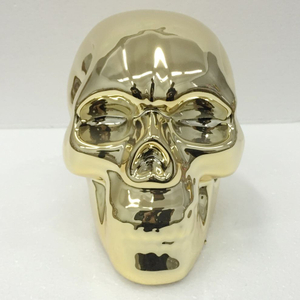 Elextraplating Interior Decoration Ceramic Skull Bobble Head