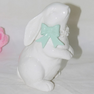 Decorative Ceramic Rabbit Figurine Easter Gift Rabbit