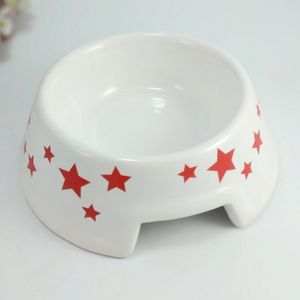 Double Color Elegant Pretty Ceramic Dog Bowl Pet Bowl
