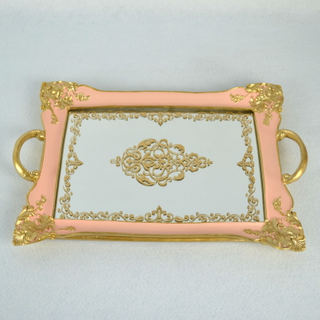 Wholesale Polyresin Frame Mirror Tray Decorative You Dresser
