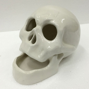 Vivid 3D Interior Decoration Ceramic Skull Bobble Head