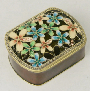 Metal Jewelry Box Epoxy Paint Jewellery Box Collection