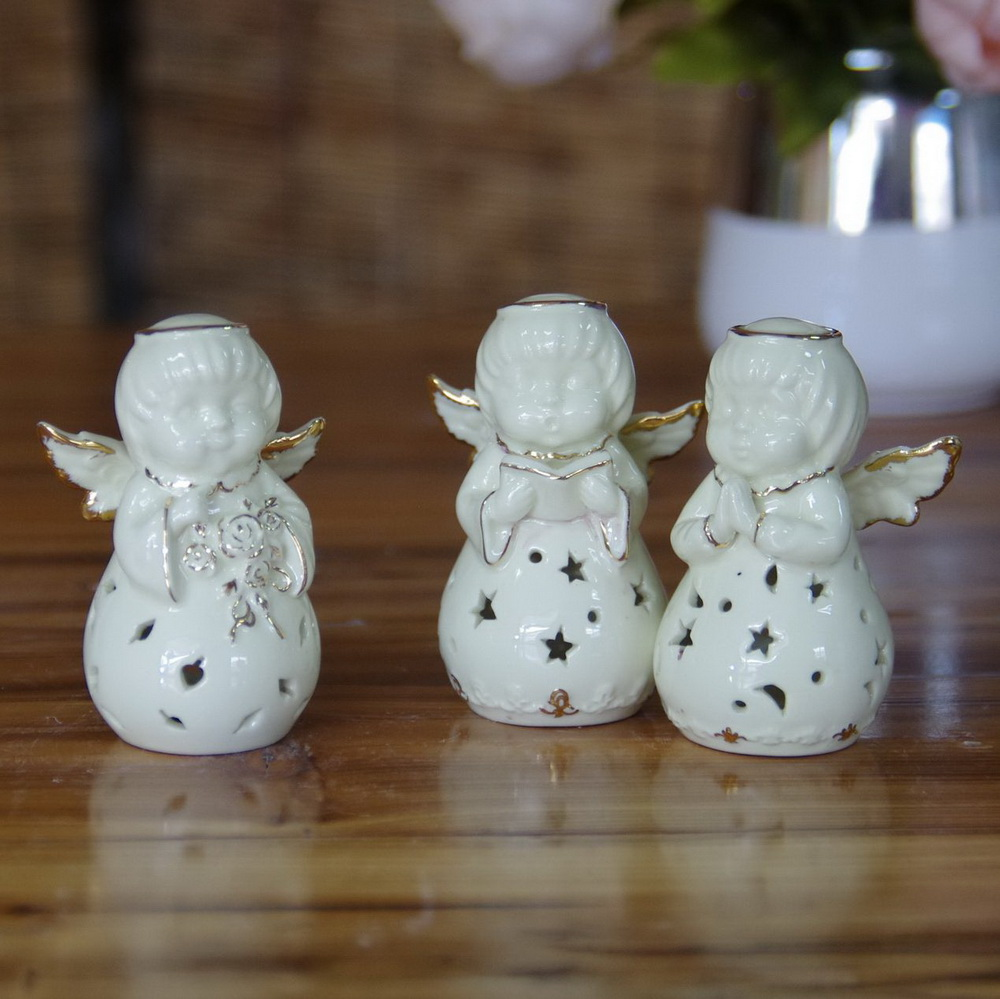 White Ceramic Porcelain Angel for Home