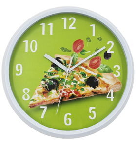 Custom Pizza Face Fashion Design High Quality Kitchen Wall Clock