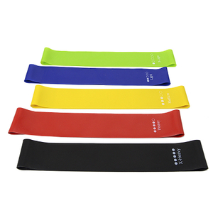 High Quality set of 5 colors Fitness Power Resistance Loop Band,Natural Latex Workout Bands
