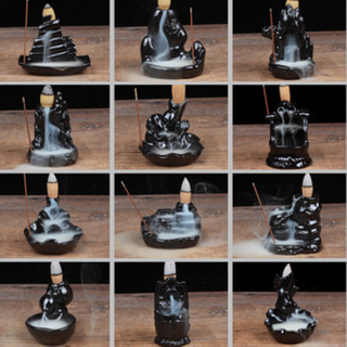 12 Styles Tower Incense Ceramic Burner Fragrance Holder Backflow Incense Stick Incense