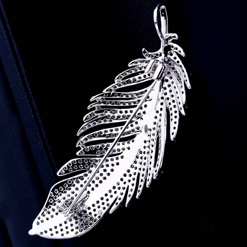 High Quality Fashion Classic Feather Brooch For Man In Box Package