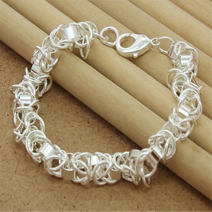 High Quality 925 Sterling Silver Bracelet Fashion Leading Men And Women Bracelet Jewelry Gift