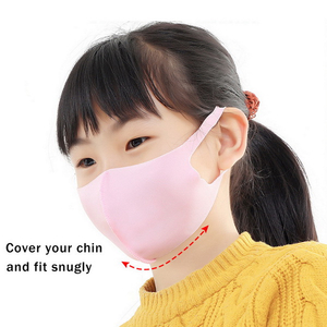 Black Custom Cloth Cartoon Printing Cotton Fabric Dust Mouth Face Shield Mask
