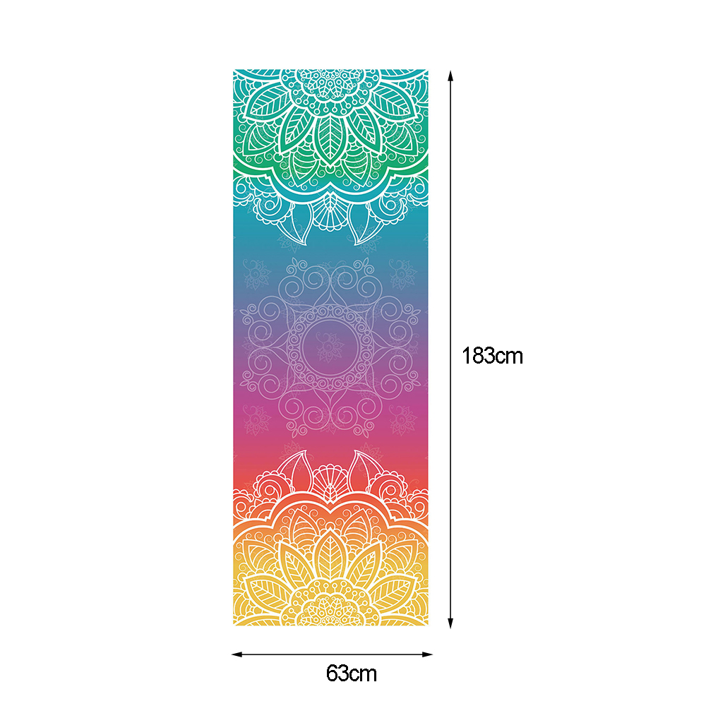 183*63cm Anti Skid Microfiber Thin Yoga Mat Non Slip Fitness Mat Cover Towel Shop Towels Pilates Blankets Home Fitness Exercise