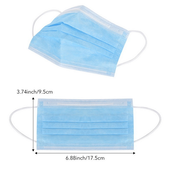 50 Pack Disposable Face Masks 3 Layer