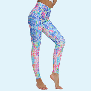 Breathable and quick-drying yoga high waist sports leggings