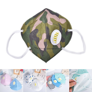 Dust Disposable Non Woven Face Mask With Valve Folding N95 Mouth Mask