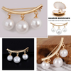 Pearl Brooches Women Clothes Coat Decoration Sweater Cardigan Clip Brooch Jewelry for Women Girl Party Decoration